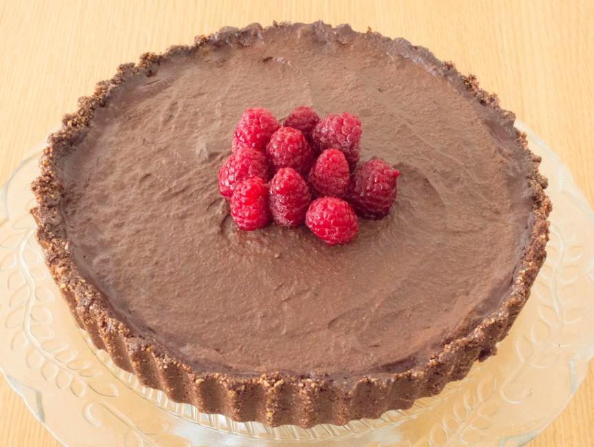 Raw Chocolate and HazelnutTart