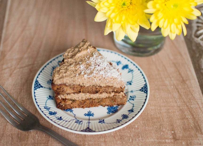 Grain-Free Carrot and Courgette Cake with Cashew Frosting