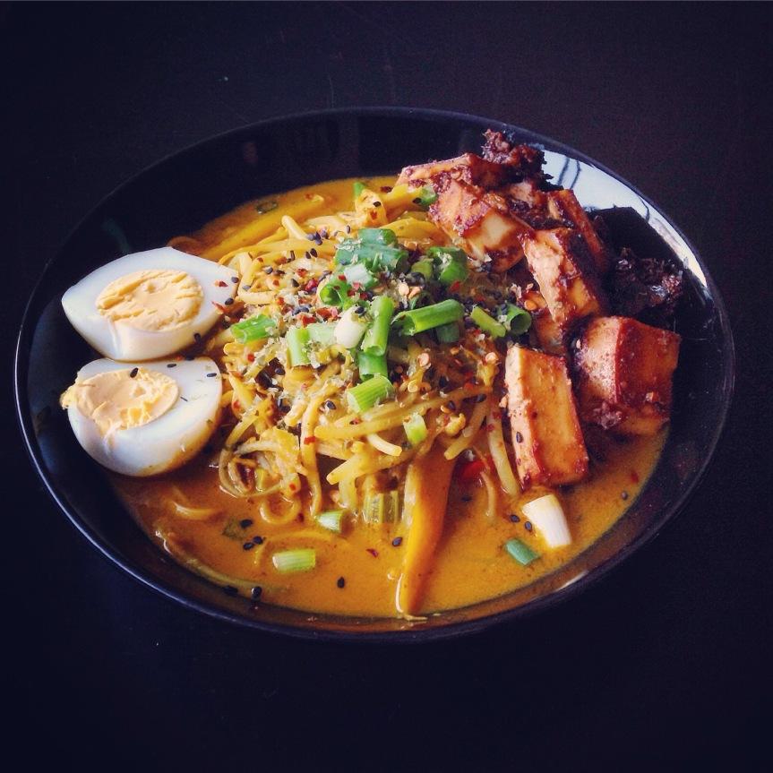 Malaysian laksa with bakedtofu