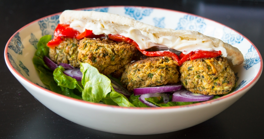 Courgette and Chickpea Falafel