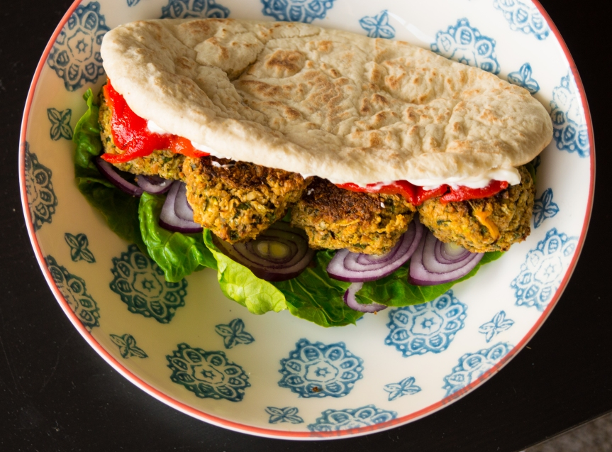 Courgette and ChickpeaFalafels