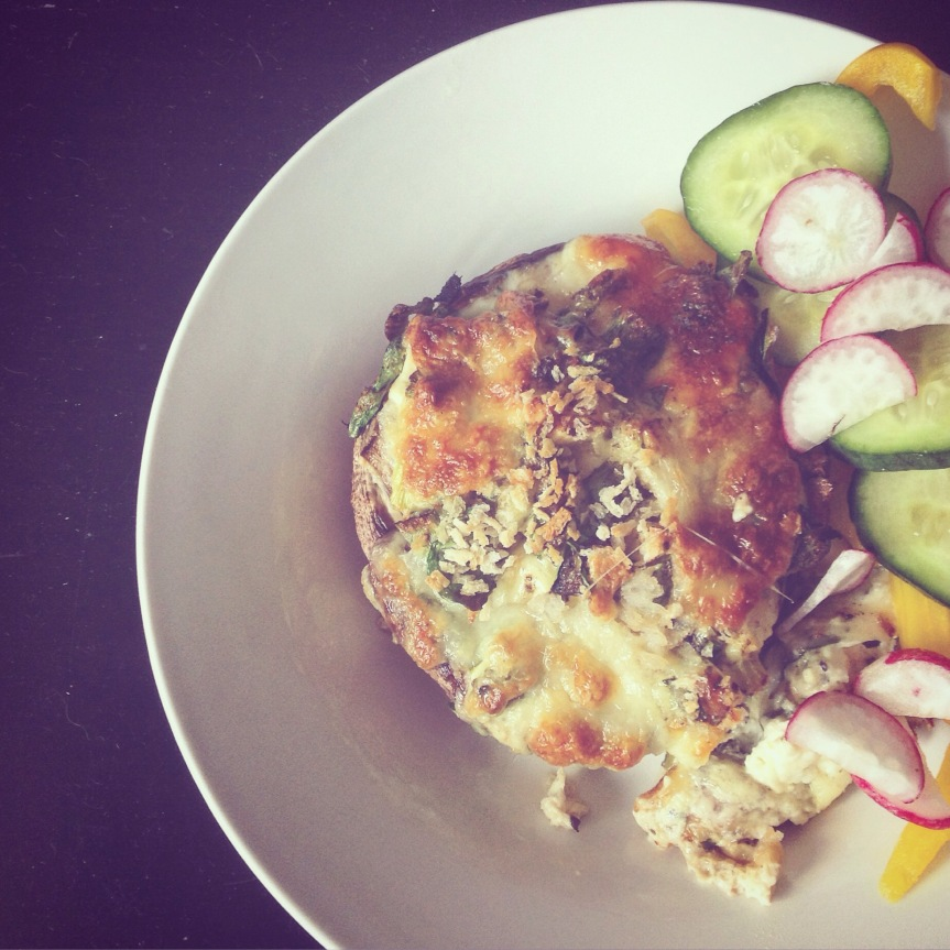 Feta and Spinach StuffedMushrooms