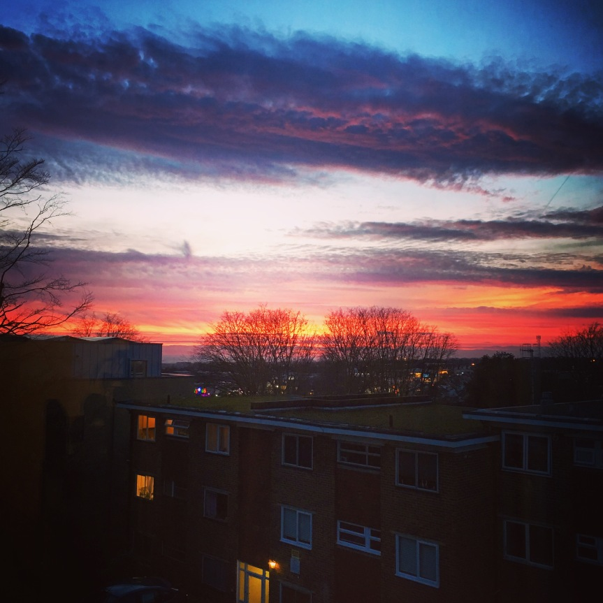 Red sky atnight…